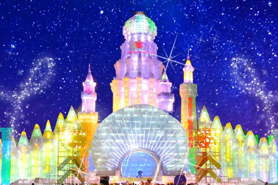 パステルネオンカラーの氷のお城☆ハルビン氷祭り♪