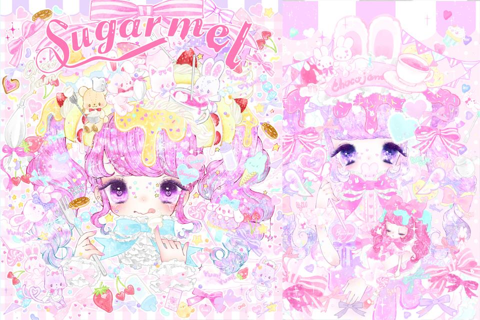 夏芽みくの画集『Sugar mel』が新発売!カリスマ的大人気ゆめかわロリィタイラストレーター