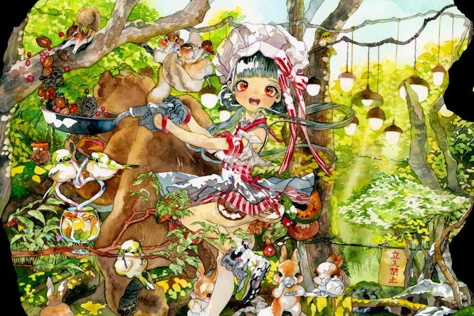 イラストレーター【七神マナ】夢のような透明水彩画がかわいい!