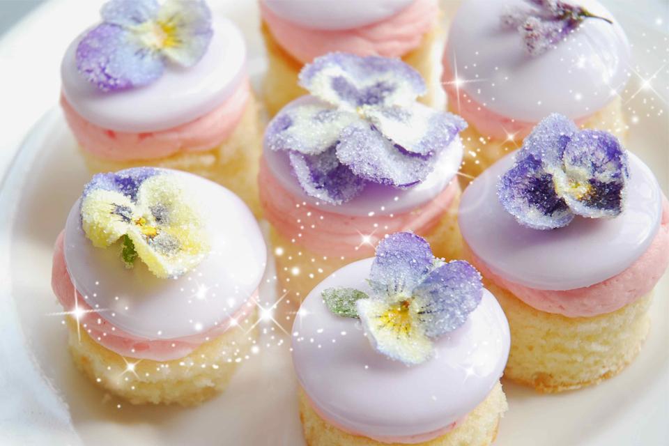きらきらクリスタライズフラワースイーツ♡食べれるお花レシピ!