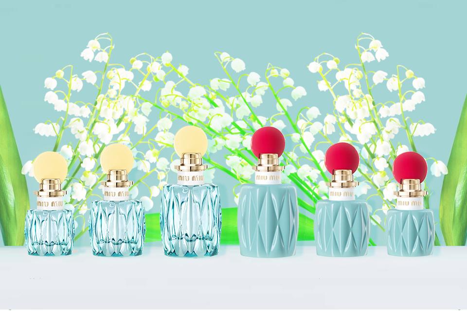 Miu Miuの一目惚れ水色香水はすずらんの香り♡