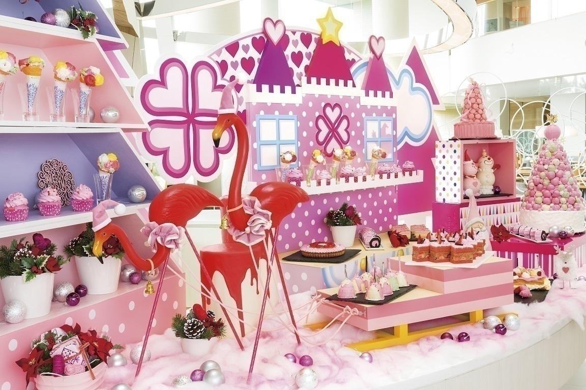 『ヒルトン東京ベイ』ピンクのクリスマスビュッフェはいかが?♡