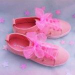 [チュールリボン×スニーカー]ゆめかわいい靴紐の結び方♡