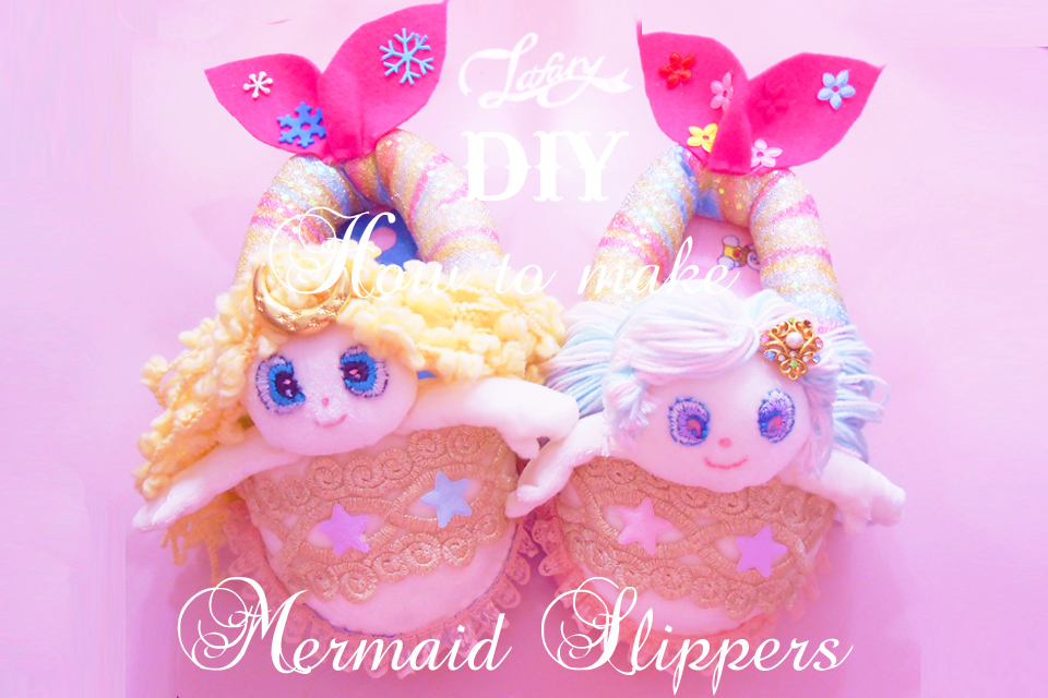 how to make mermaid slippers