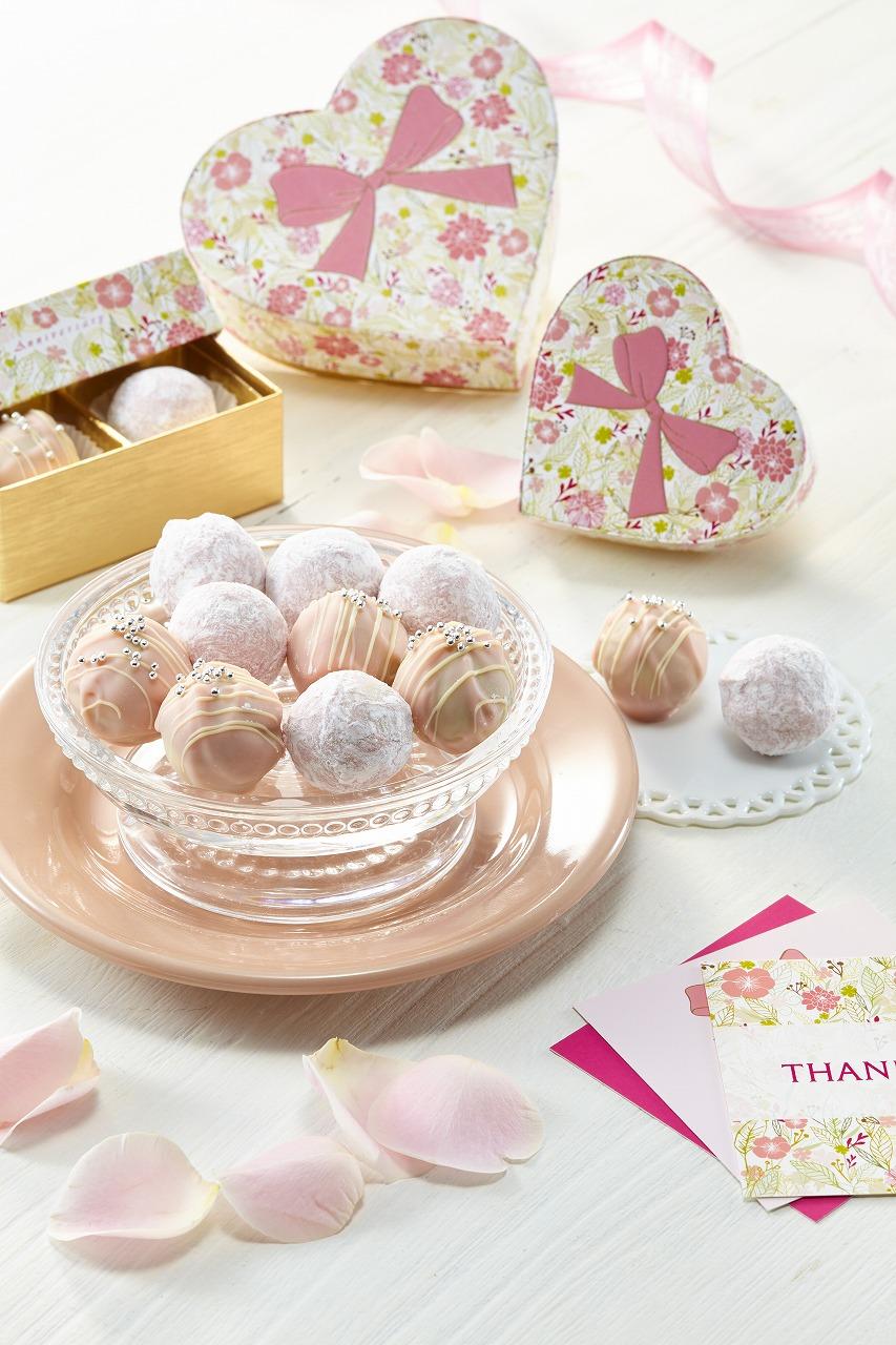 苺とバラの大人可愛いバレンタイン限定トリュフが販売中!