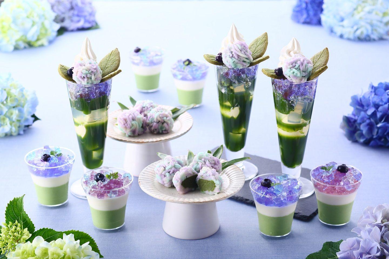 青と紫とキラキラと…紫陽花スイーツフェアが京都の伊藤久右衛門で開催!
