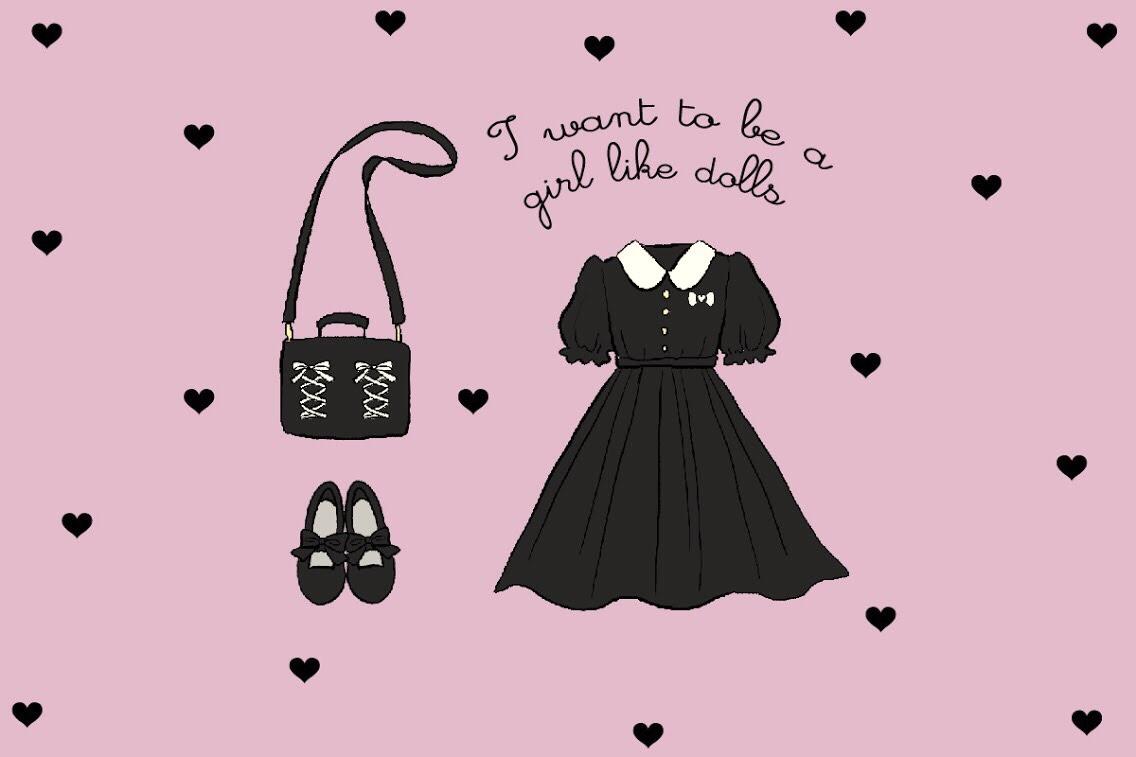 なりたいのは、お人形な女の子。DOLLな黒ワンピース コーディネート集