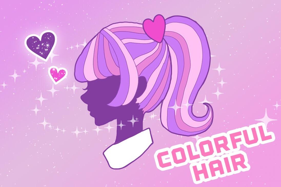 原宿系の派手髪に変身*お家でカラフルなヘアカラーにCHANGE!