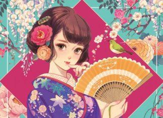 艶めく和とガーリーの美しさ…マツオヒロミさんの美少女画にうっとり