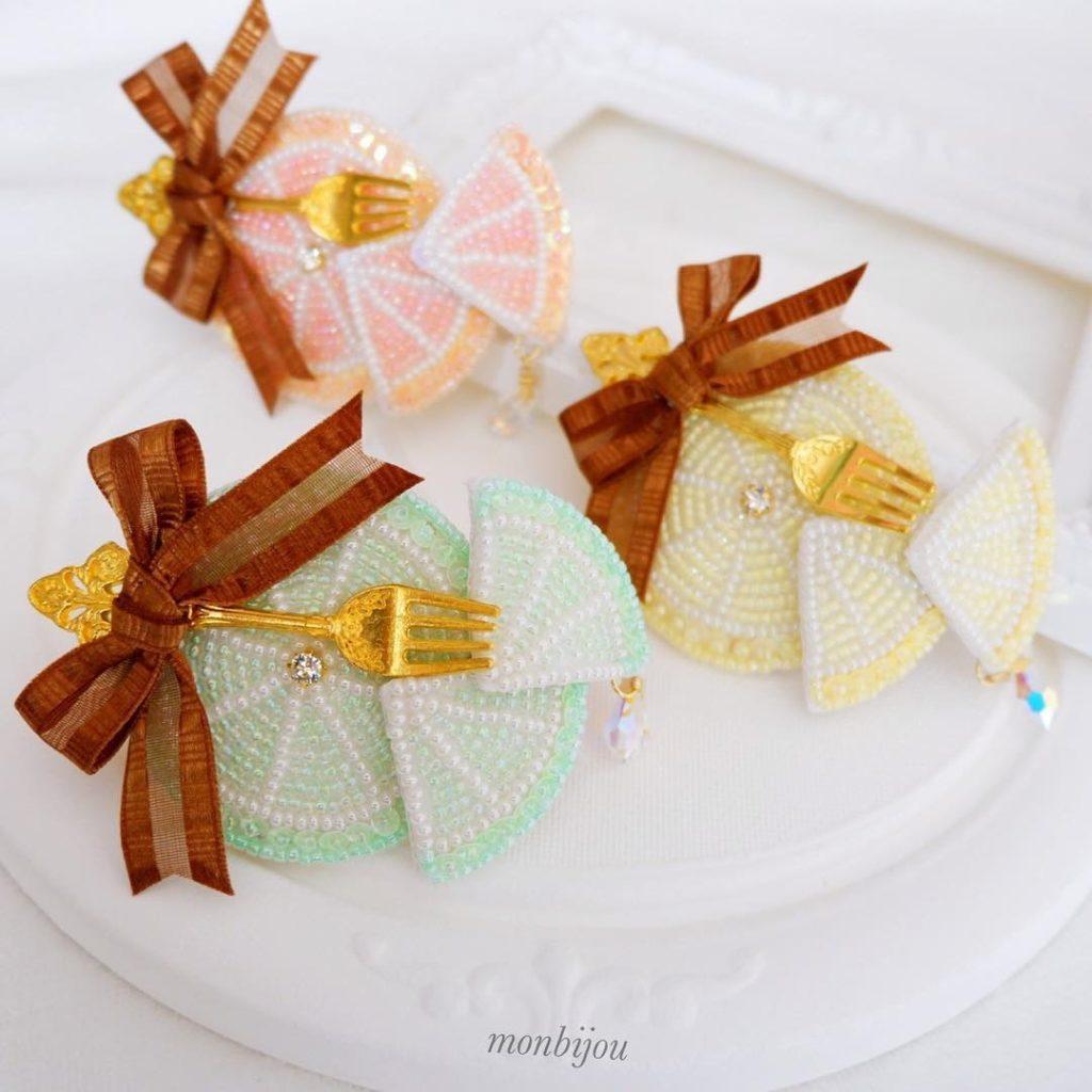 ビーズ刺繡monbijouアクセサリー画像10