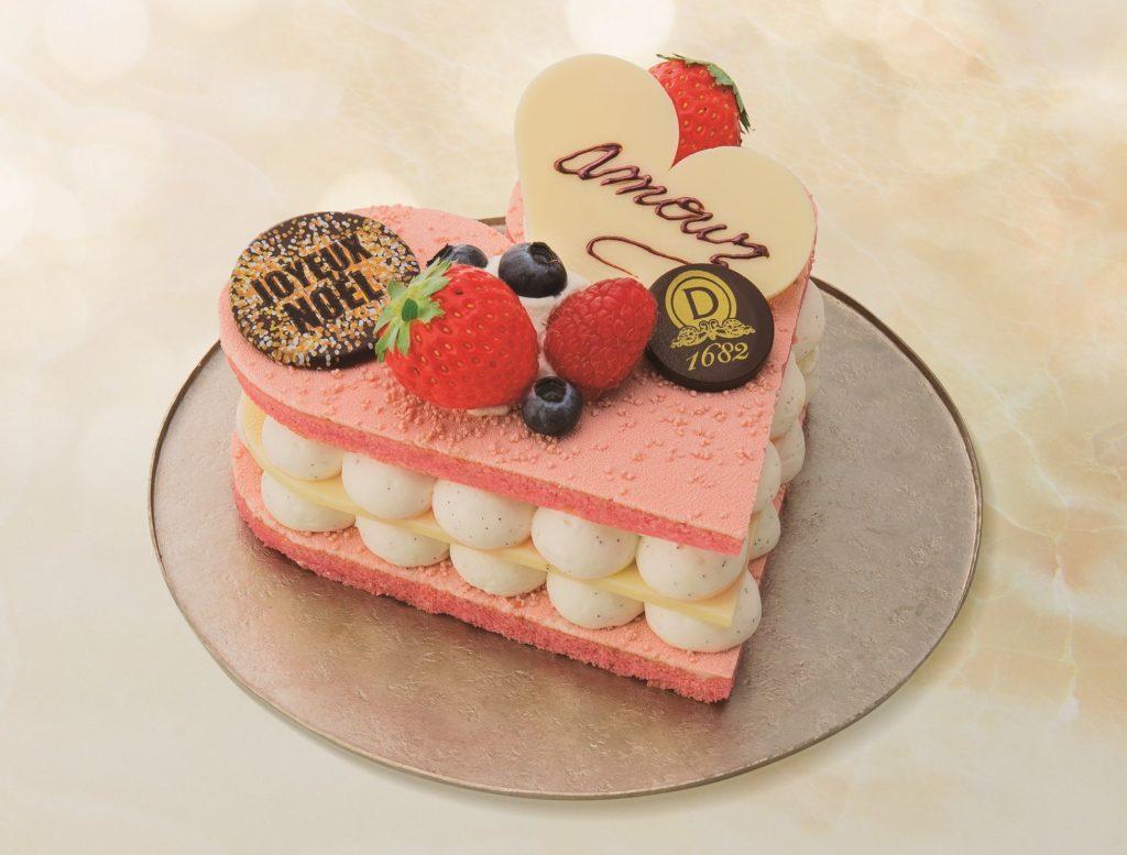 ピンクで可愛いクリスマスケーキ2018の画像2