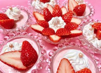 苺にときめくスイーツレシピ♡可愛いいちごババロアの作り方〔超簡単♡〕