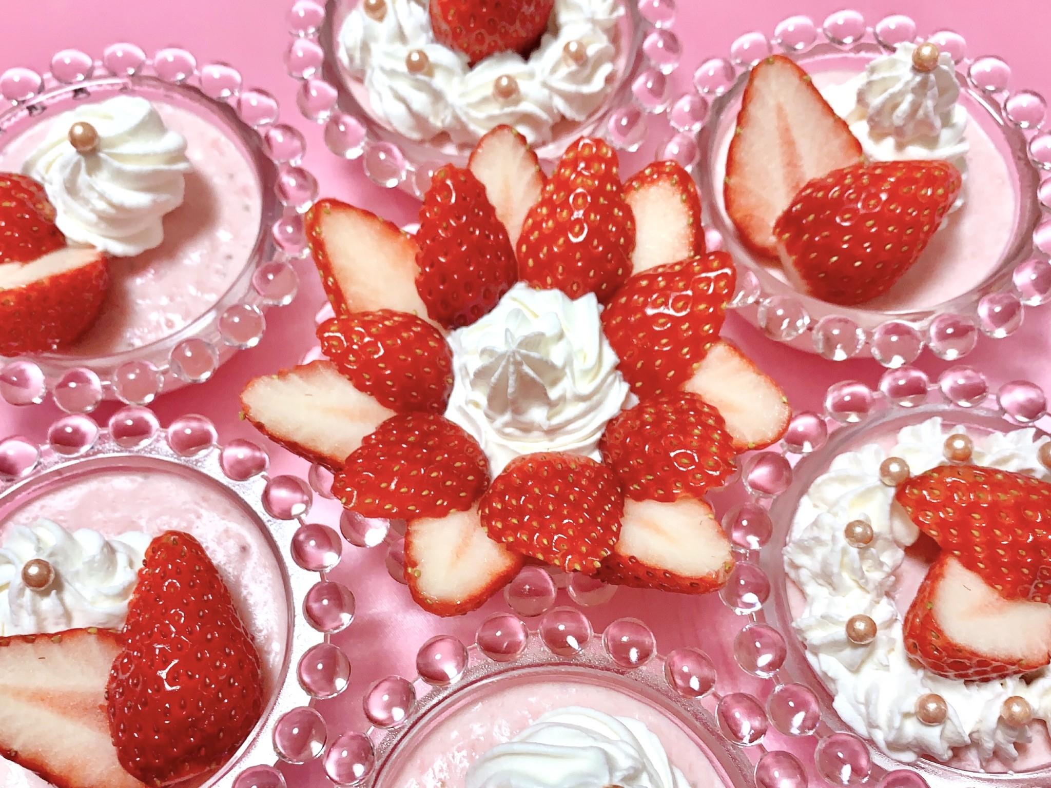 【簡単レシピ】可愛いいちごババロアの作り方7