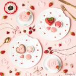 Q-pot CAFE.のバレンタイン…ピンクかわいい♡いちごスイーツ