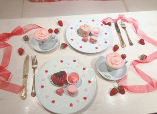 Q-pot CAFE.の2020バレンタイン♡甘酸っぱいいちごにときめいて…