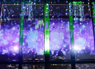 【キキ&ララ×東京タワー】夏の夜空に七夕さまのキキ&ララが♡